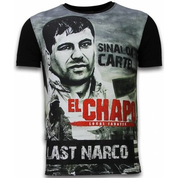 Textiel Heren T-shirts korte mouwen Local Fanatic El Chapo Last Narco - Digital Rhinestone T-shirt 38