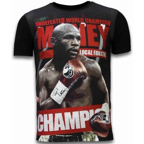 Textiel Heren T-shirts korte mouwen Local Fanatic Money Champion Digital Rhinestone Zwart