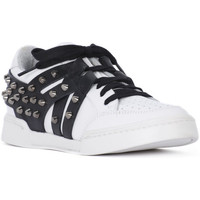 Schoenen Dames Lage sneakers At Go GO GALAXY BIANCO VELOUR NERO Bianco