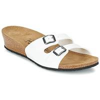 Schoenen Dames Leren slippers Papillio ANNE Lak / Wit