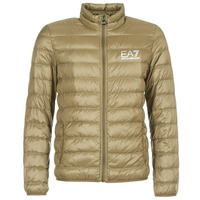 Textiel Heren Dons gevoerde jassen Emporio Armani EA7 TRAIN CORE ID M DOWN LIGHT Bruin