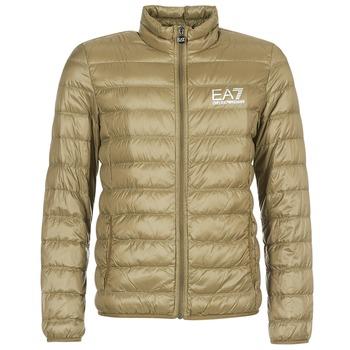 Textiel Heren Dons gevoerde jassen Emporio Armani EA7 TRAIN CORE ID M DOWN LIGHT Bruin