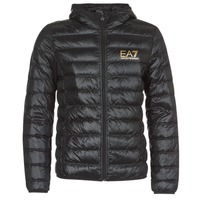 Textiel Heren Dons gevoerde jassen Emporio Armani EA7 TRAIN CORE ID M DOWN LIGHT Zwart / Goud