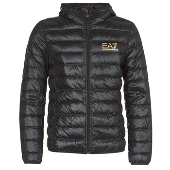 Textiel Heren Dons gevoerde jassen Emporio Armani EA7 TRAIN CORE ID M DOWN LIGHT Zwart / Goud