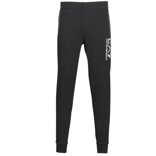 Textiel Heren Trainingsbroeken Emporio Armani EA7 TRAIN TRITONAL M PANTS CH BR Zwart / Grijs