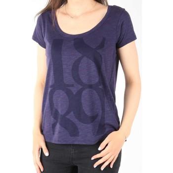Textiel Dames T-shirts korte mouwen Lee T-Shirt  Scoop Mystic Plum 40KFL87 blue