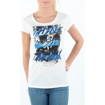 Textiel Dames T-shirts korte mouwen Lee T-shirt Damski SLIM T CLOUD DANCER L41MEVHA white