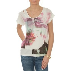 Textiel Dames T-shirts korte mouwen Lee T-shirt  Night Cloud Dancer L485AUHA white