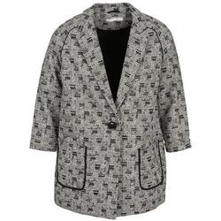 Textiel Dames Mantel jassen See U Soon CARA Zwart / Wit