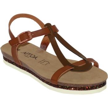 Schoenen Dames Sandalen / Open schoenen Amoa Loches Bruin