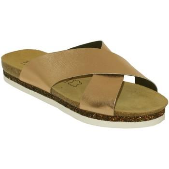 Schoenen Dames Leren slippers Amoa Scarpe Lichtroze