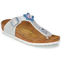 Schoenen Meisjes Sandalen / Open schoenen Birkenstock GIZEH FLOWER Wit / Pearl