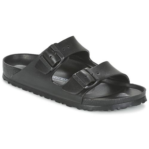 Schoenen Dames Leren slippers Birkenstock ARIZONA EVA Zwart