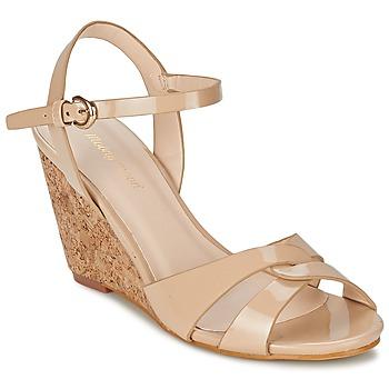 Schoenen Dames Sandalen / Open schoenen Moony Mood MAINTIRANA Beige / Lak