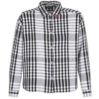 Textiel Dames Overhemden Maison Scotch FRINDA Zwart / Wit