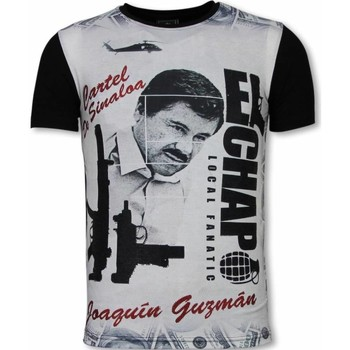 Textiel Heren T-shirts korte mouwen Local Fanatic El Chapo Digital Rhinestone Zwart