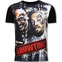 Textiel Heren T-shirts korte mouwen Local Fanatic Showtime Digital Rhinestone Zwart