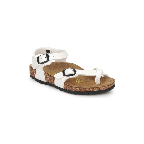 Schoenen Meisjes Sandalen / Open schoenen Birkenstock TAORMINA Wit / Lak
