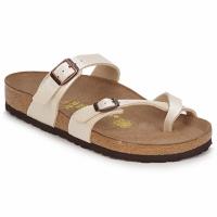 Schoenen Dames Leren slippers Birkenstock MAYARI Creme