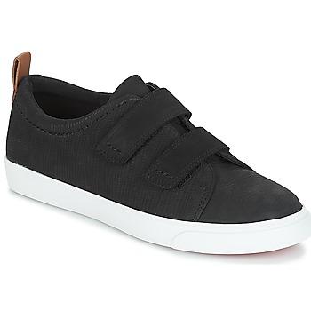 Schoenen Dames Lage sneakers Clarks Glove Daisy Zwart / Combi / Nubuck