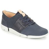 Schoenen Dames Lage sneakers Clarks Tri Caitlin Marine / Combi