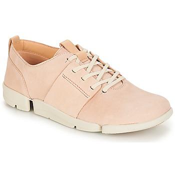 Schoenen Dames Lage sneakers Clarks Tri Caitlin Nude / Roze