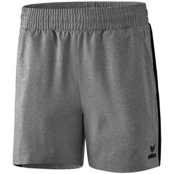 Textiel Dames Korte broeken / Bermuda's Erima Short femme  Premium One 2.0 gris chiné/noir