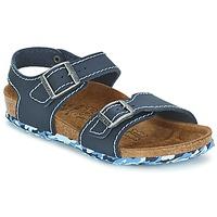 Schoenen Meisjes Sandalen / Open schoenen Birki's NEW YORK Neoprene / Blauw