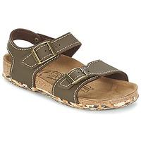 Schoenen Meisjes Sandalen / Open schoenen Birki's NEW YORK Neoprene / Bruin