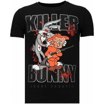 Textiel Heren T-shirts korte mouwen Local Fanatic Killer Bunny - Rhinestone T-shirt 38