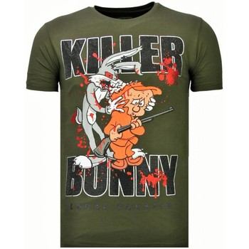 Textiel Heren T-shirts korte mouwen Local Fanatic Killer Bunny - Rhinestone T-shirt Groen