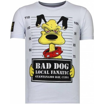Textiel Heren T-shirts korte mouwen Local Fanatic Bad Dog - Rhinestone T-shirt 1