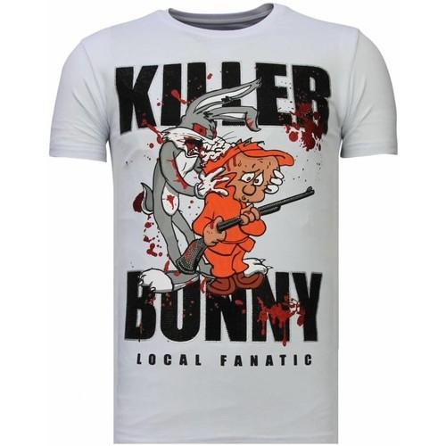 Textiel Heren T-shirts korte mouwen Local Fanatic Killer Bunny - Rhinestone T-shirt Wit
