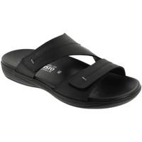 Schoenen Heren Leren slippers Mephisto STAN Zwart leer