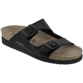 Schoenen Dames Leren slippers Mephisto HARMONY Zwart leer