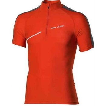 Textiel Dames T-shirts korte mouwen Asics 1/2 ZIP TOP FW12 421016-0540 orange