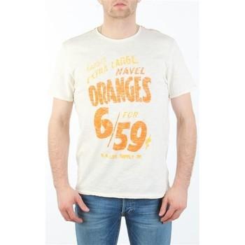 Textiel Heren T-shirts korte mouwen Lee MARCANTILE L668ABBC white