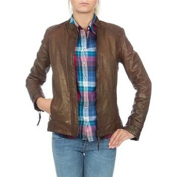 Textiel Dames Jasjes / Blazers Wrangler skórzana  WR4030ZC81 brown