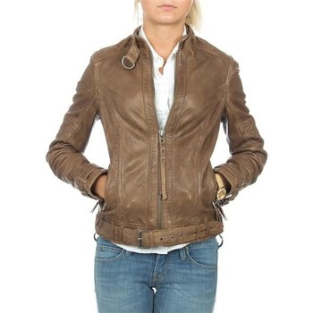 Textiel Dames Jasjes / Blazers Wrangler skórzana  Montana WR4044ZCBR brown