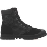 Schoenen Dames Laarzen Palladium Manufacture Pampa HI Knit LP Camo 95551-008 black
