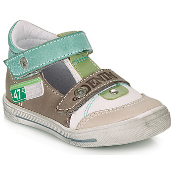 Schoenen Jongens Sandalen / Open schoenen GBB PEPINO Wit / Groen / Taupe