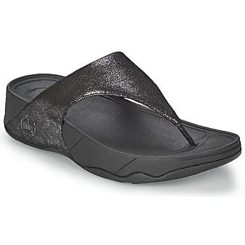 Schoenen Dames Teenslippers FitFlop LULU SUEDE Zwart