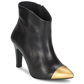 Schoenen Dames Enkellaarzen Pastelle ARIEL Zwart/ Goud