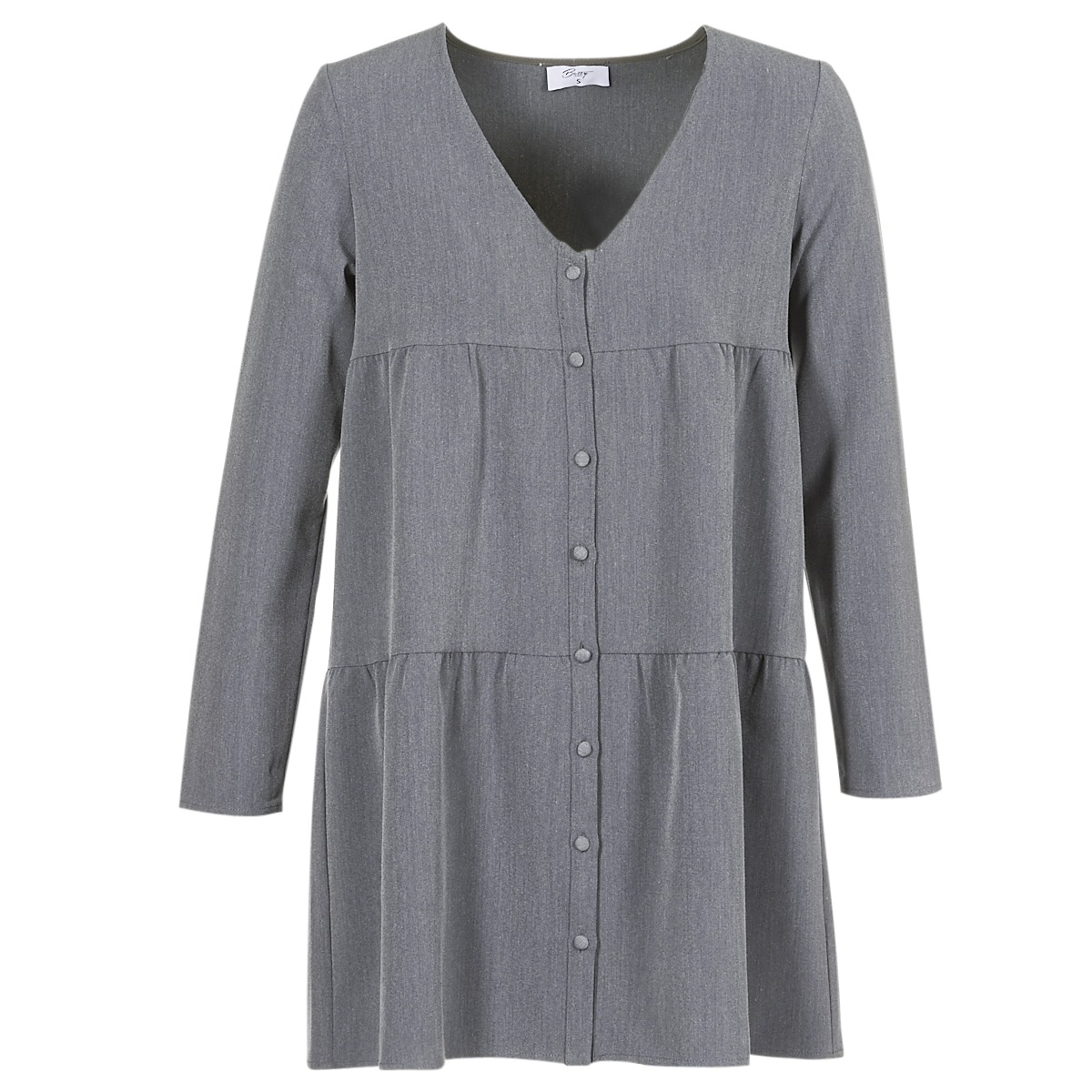 Betty London korte jurk joguret grijs