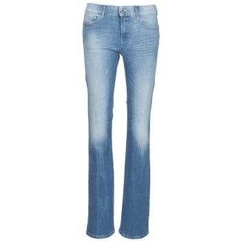 Textiel Dames Bootcut jeans Diesel BOOTZE Blauw