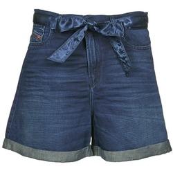 Textiel Dames Korte broeken / Bermuda's Diesel DE-KAWAII Blauw / Donker
