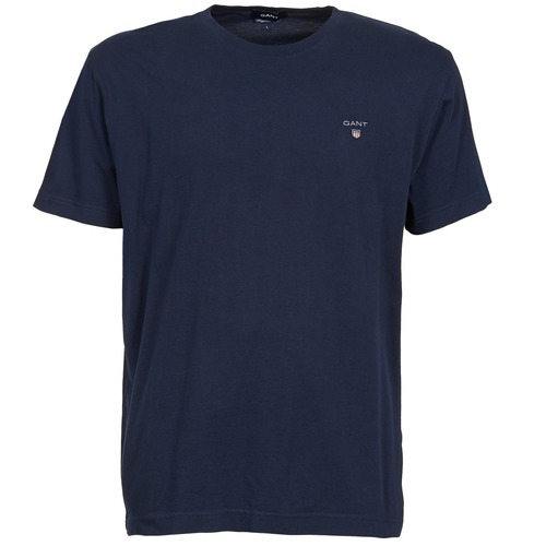 Textiel Heren T-shirts korte mouwen Gant SOLID Marine