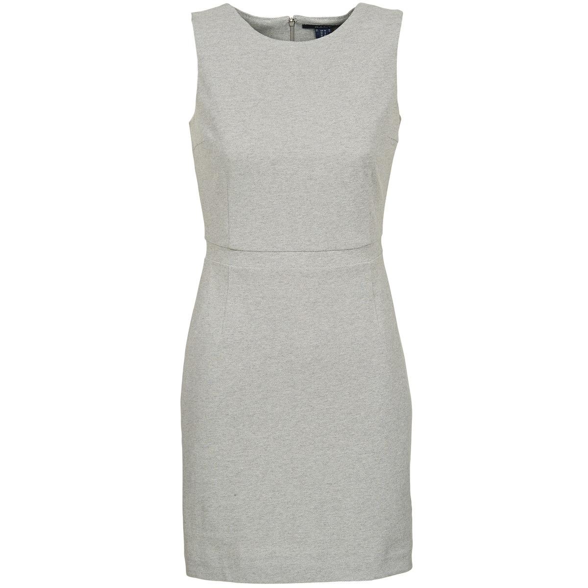 Gant korte jurk l. jersey pique grijs