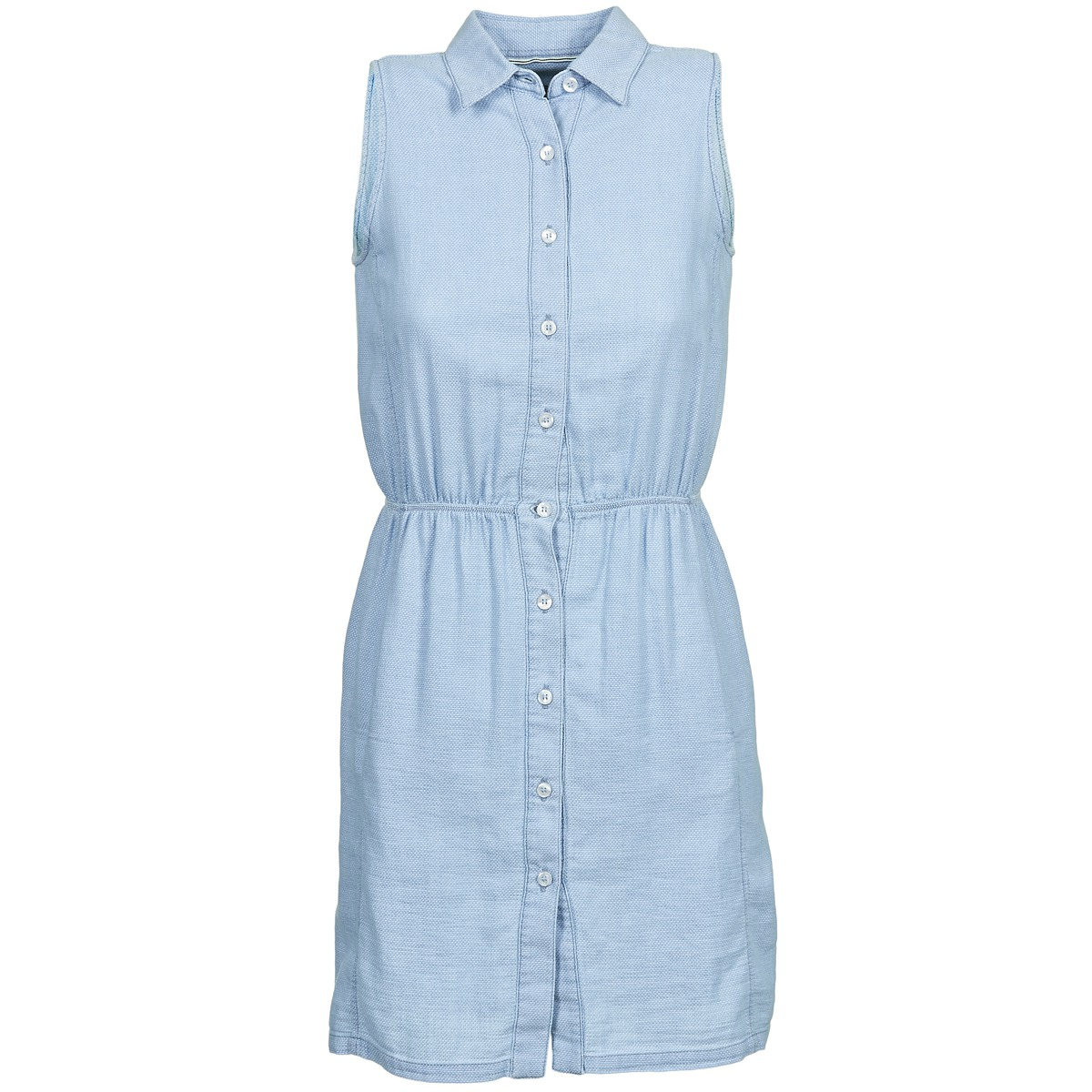 Gant korte jurk o. indigo jacquard blauw