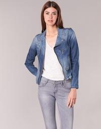 Textiel Dames Spijker jassen Schott JANIS Blauw